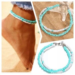 Jewelry - Beach Bead Shell Anklets For Women